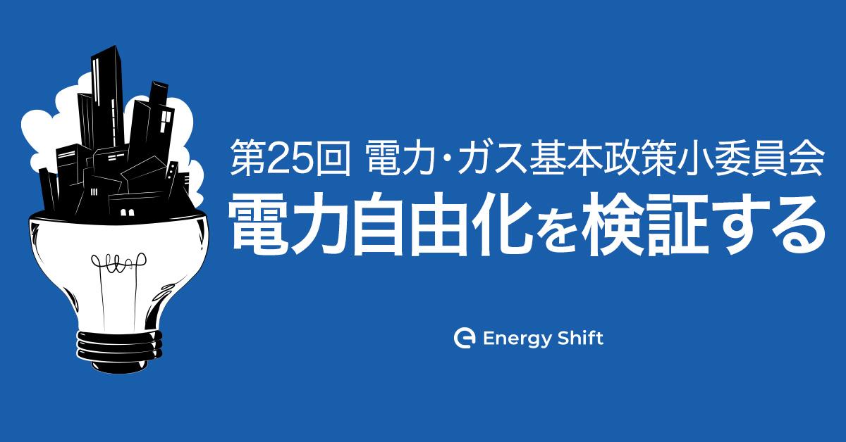 第25回 電力・ガス基本政策小委員会 審議会ウィークリートピック