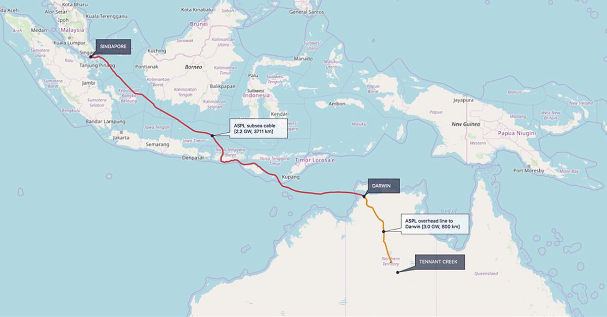 オーストラリアの太陽光発電で発電した電力をシンガポールへ送電する「オーストラリア・ASEAN-パワーリンク(AAPL)」プロジェクト、オーストラリア政府が認可