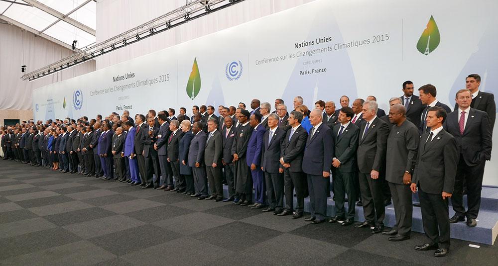 2015年 第21回気候変動枠組条約締約国会議(COP21)が開催されたフランスのパリでの各国首脳