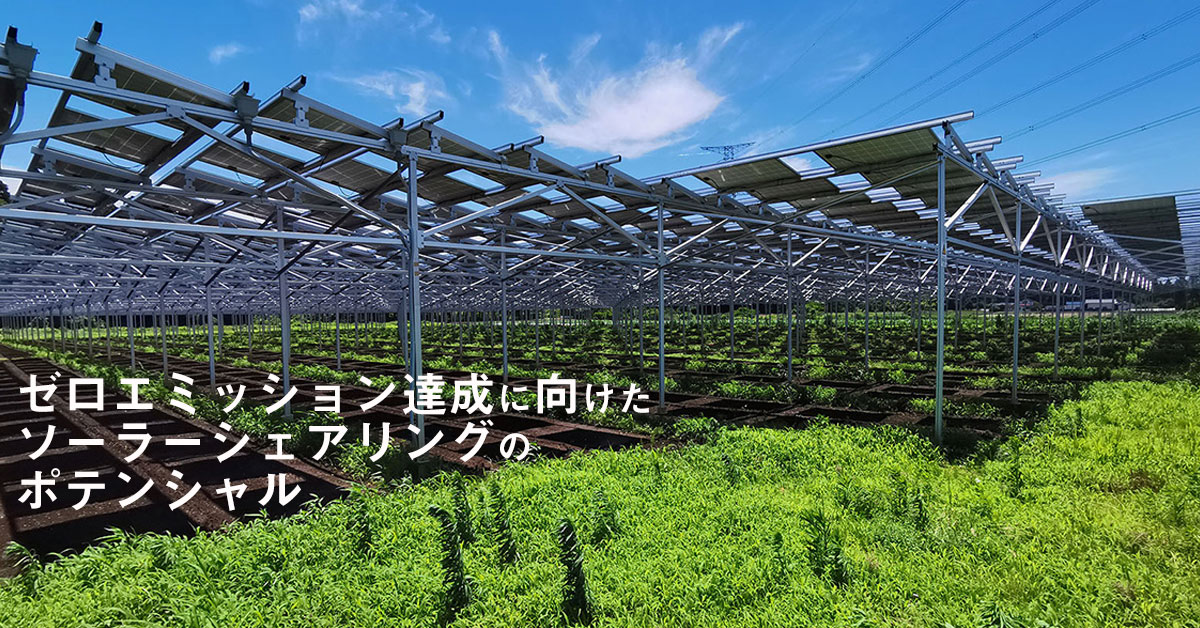 ゼロエミッション達成に向けたソーラーシェアリングのポテンシャル
