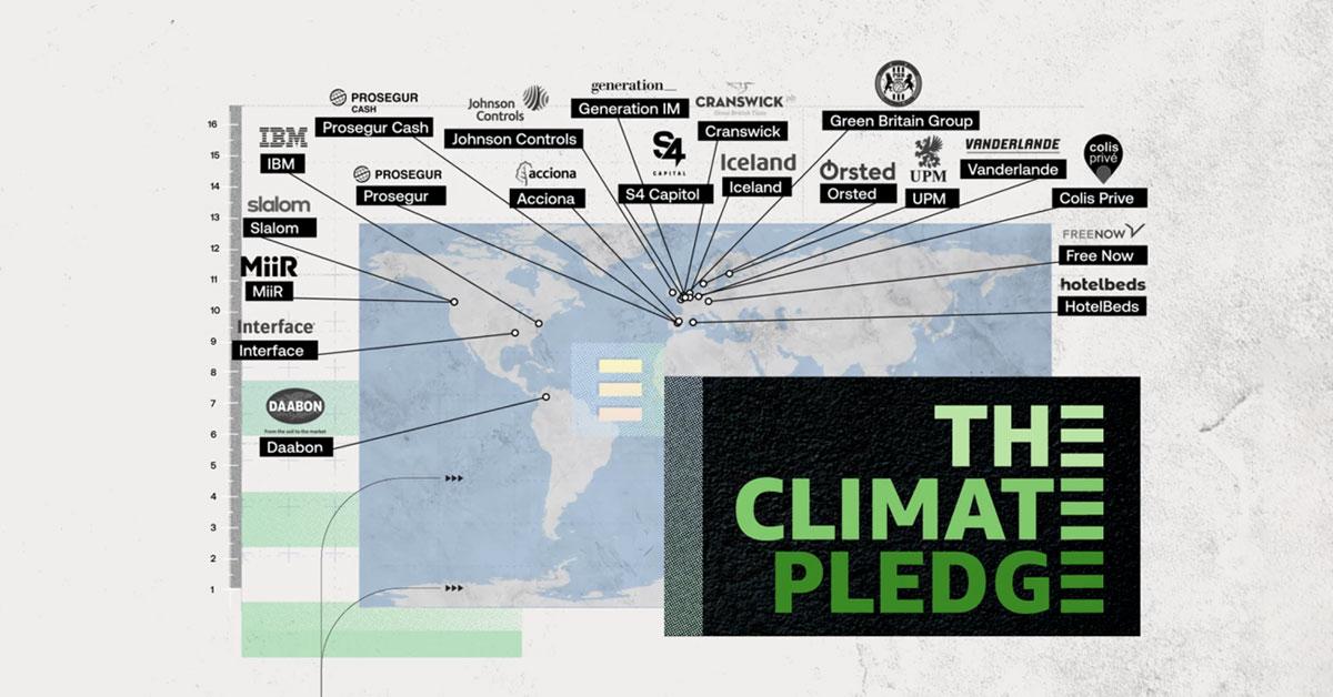 米アマゾンが設立したThe Climate Pledge、新たに20社が加わり53社に。IBM、オーステッドも。