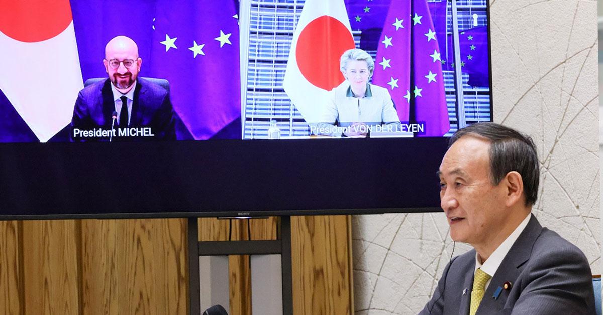 日本とEU、グリーン・アライアンスに合意 温室効果ガス削減に向け協力強化