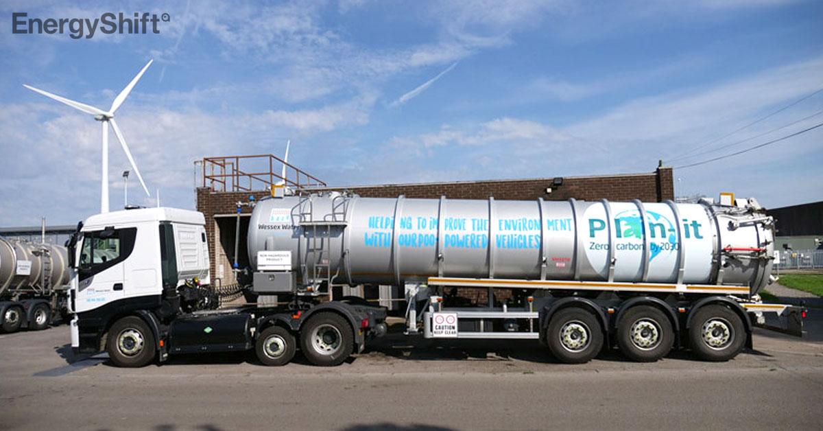 英国で、うんこが燃料のトラックが走行